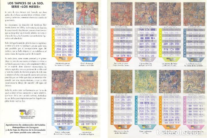 Coleccionismo Billetes de transporte: Coleccion Bonobuses de Zaragoza. Años 1996 a 2001 Inc. Carpetas oficiales completas. EX - Foto 10 - 154875518