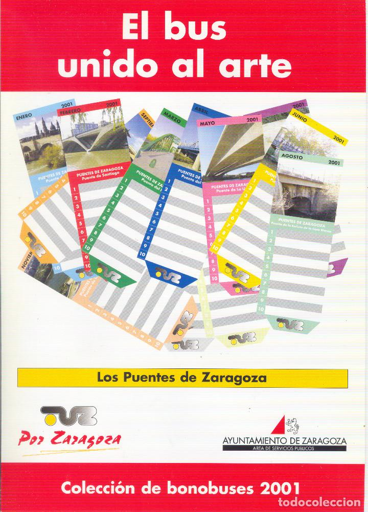 Coleccionismo Billetes de transporte: Coleccion Bonobuses de Zaragoza. Años 1996 a 2001 Inc. Carpetas oficiales completas. EX - Foto 11 - 154875518