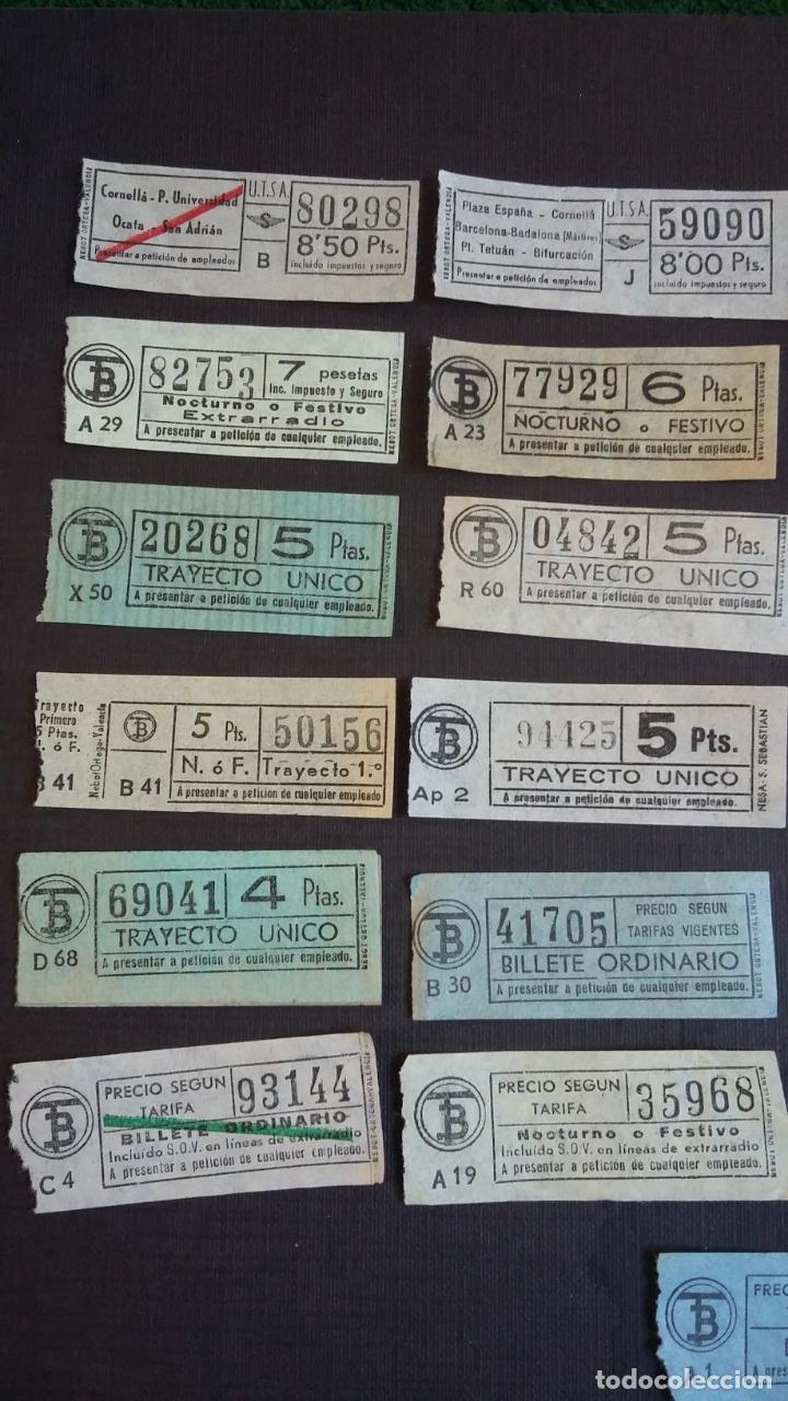 Coleccionismo Billetes de transporte: LOTE 25 BILLETES DIFERENTES DE TB ( TRANSPORTES BARCELONA ) Y UTSA ( URBANIZACIÓN Y TRANSPORTE ) - Foto 2 - 155492610