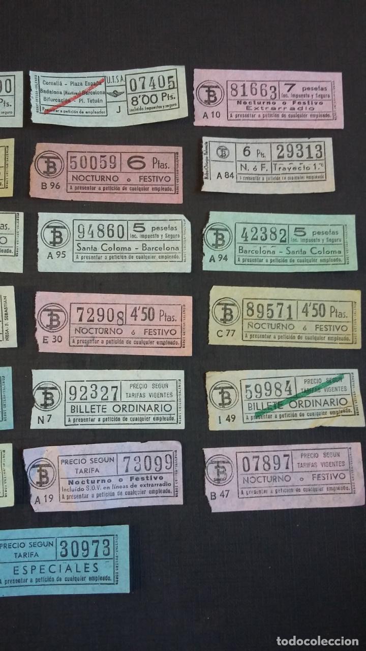 Coleccionismo Billetes de transporte: LOTE 25 BILLETES DIFERENTES DE TB ( TRANSPORTES BARCELONA ) Y UTSA ( URBANIZACIÓN Y TRANSPORTE ) - Foto 3 - 155492610