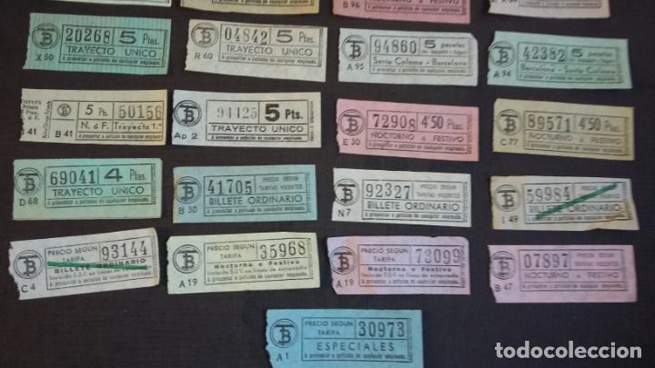 Coleccionismo Billetes de transporte: LOTE 25 BILLETES DIFERENTES DE TB ( TRANSPORTES BARCELONA ) Y UTSA ( URBANIZACIÓN Y TRANSPORTE ) - Foto 5 - 155492610
