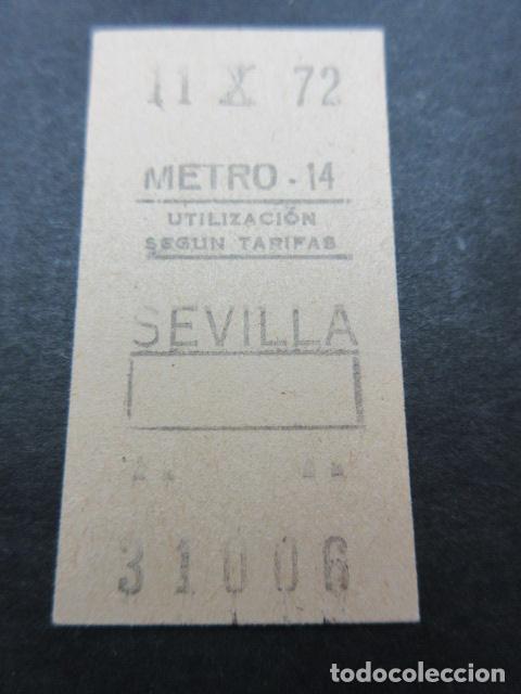 METRO MADRID 1972 - PARADA SEVILLA - MAQUINA 14 (Coleccionismo - Billetes de Transporte)