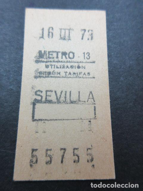 METRO MADRID 1973 - PARADA SEVILLA - MAQUINA 13 - CAPICUA 55755 (Coleccionismo - Billetes de Transporte)