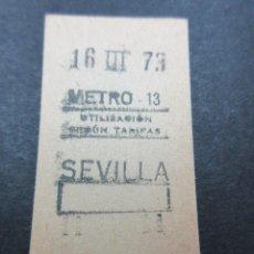 Coleccionismo Billetes de transporte: METRO MADRID 1973 - PARADA SEVILLA - MAQUINA 13 - CAPICUA 55755. Lote 155614550