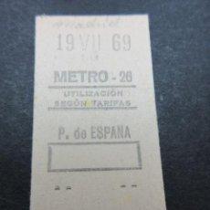 Coleccionismo Billetes de transporte: METRO MADRID 1969 - PARADA P. DE ESPAÑA - MAQUINA 26 - . Lote 155614638