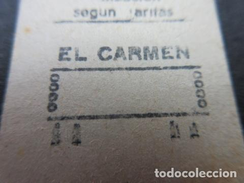 METRO MADRID 1969 - PARADA EL CARMEN - MAQUINA 118 - OJOJO MODELO CIRCULO EN LUGAR DE LINEAS EN RECU (Coleccionismo - Billetes de Transporte)