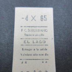 Coleccionismo Billetes de transporte: METRO MADRID 1965 PARADA EL LAGO F. C. SUBURBANO . Lote 155615330