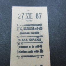 Coleccionismo Billetes de transporte: METRO MADRID 1967 PARADA PLAZA ESPAÑA F. C. SUBURBANO . Lote 155615374