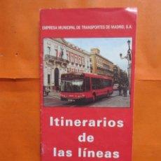 Colecionismos Bilhetes de Transporte: AÑO 1998 ANTIGUO RED EMT MADRID AUTOBUS 16 PAGINAS FOLLETO TODAS LINEAS Y RECORRIDOS. Lote 155785642
