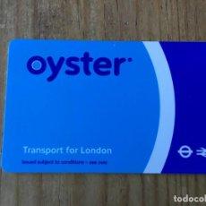 Coleccionismo Billetes de transporte: R5688 ENTRADA TICKET BILLETE TRANSPORTE TREN METRO BUS OYSTER LONDRES REINO UNIDO. Lote 155787198