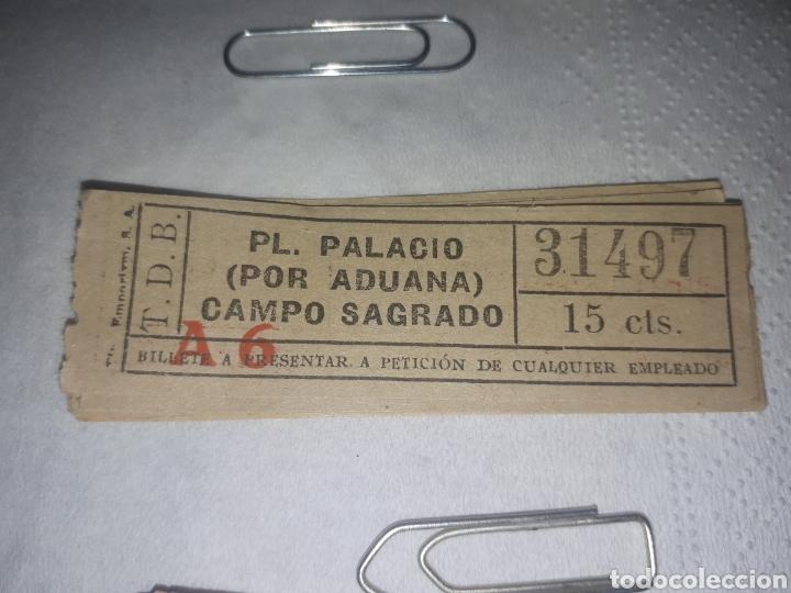 BILLETE TRANVÍAS DE BARCELONA 0.15 CTS (Coleccionismo - Billetes de Transporte)