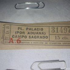 Coleccionismo Billetes de transporte: BILLETE TRANVÍAS DE BARCELONA 0.15 CTS. Lote 156447297