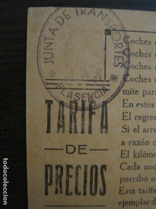 Coleccionismo Billetes de transporte: JUNTA DE TRANSPORTES-PLASENCIA-TARIFA DE PRECIOS-VER FOTOS-(57.929) - Foto 2 - 156897530