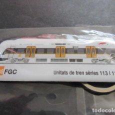 Coleccionismo Billetes de transporte: PRECIOSO LLAVERO UNIDADES DE TREN SERIES 113 Y 114 FERROCARRILES GENERALITAT. Lote 157899466