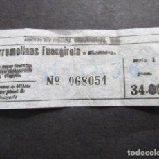 Coleccionismo Billetes de transporte: BILLETE AUTOBUSES AUTOMOVILES PORTILLO DE MALAGA TORREMOLINOS FUENGIROLA. Lote 157902086