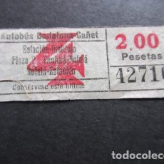 Coleccionismo Billetes de transporte: BILLETE AUTOBUSES AUTOBUSES BADALONA CAÑET . Lote 157902290