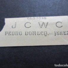 Coleccionismo Billetes de transporte: BILLETE SOCIEDAD MADRILEÑA DE TRANVIAS MADRID PUERTA DEL SOL ARGUELLES PUBLICIDAD JCWC. Lote 157906638