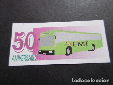 Coleccionismo Billetes de transporte: BILLETE CONMEMORATIVO 50 ANIVERSARIO EMPRESA MALAGUEÑA DE TRANSPORTES SAM MALAGA - Foto 2 - 157908298