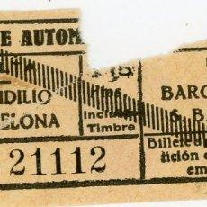 Coleccionismo Billetes de transporte: BILLETE DE LA LINEA DE AUTOMNIBUS DE SAN BAUDILIO (S1). Lote 158865538