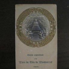 Coleccionismo Billetes de transporte: MARE DE DEU DE MONTSERRAT-VISITA ESPIRITUAL BISBE JOSEP TORRAS I BAGES-VER FOTOS-(V-16.397). Lote 160280650