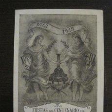 Coleccionismo Billetes de transporte: MATARO-FIESTAS DEL CENTENARIO DEL CARRIL DE MATARO-FERROCARRIL-AÑO 1948-VER FOTOS-(V-16.398). Lote 160281282