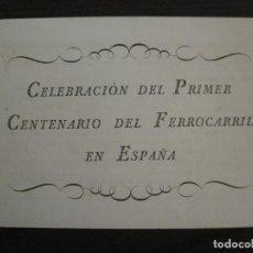 Coleccionismo Billetes de transporte: MATARO-CENTENARIO DEL PRIMER FERROCARRIL ESPAÑOL-AÑO 1948-VER FOTOS-(V-16.400). Lote 160281786