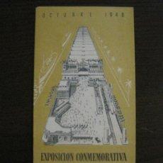 Coleccionismo Billetes de transporte: MATARO-EXPOSICION CONMEMORATIVA CENTENARIO PRIMER FERROCARRIL ESPAÑOL-AÑO 1948-VER FOTOS-(V-16.401). Lote 160282018