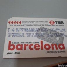 Coleccionismo Billetes de transporte: BILLETE T.4 ENTRADA CINE. Lote 160425969
