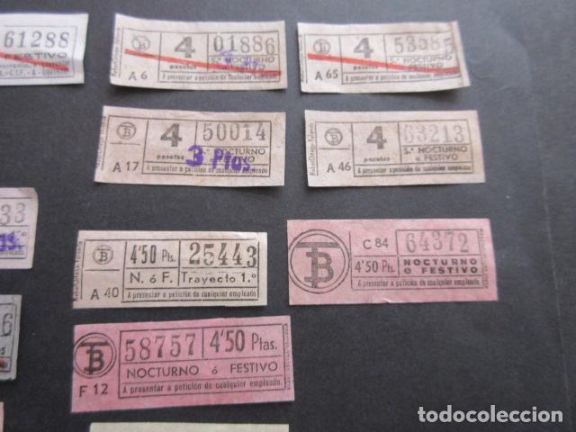 Coleccionismo Billetes de transporte: MAGNIFICO LOTE 21 BILLETES NOCTURNOS TRANVIAS DE BARCELONA DIFERENTES TODOS VER SOBRE CARGAS ETC. - Foto 3 - 161812578