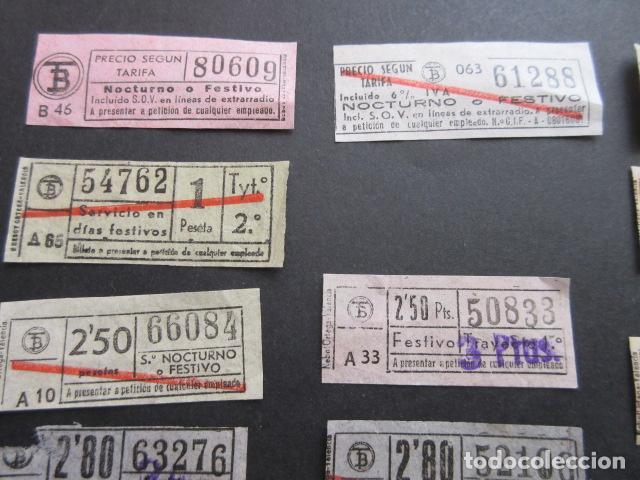 Coleccionismo Billetes de transporte: MAGNIFICO LOTE 21 BILLETES NOCTURNOS TRANVIAS DE BARCELONA DIFERENTES TODOS VER SOBRE CARGAS ETC. - Foto 4 - 161812578