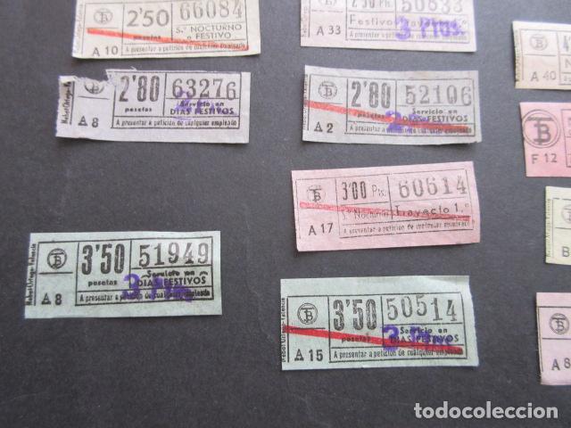 Coleccionismo Billetes de transporte: MAGNIFICO LOTE 21 BILLETES NOCTURNOS TRANVIAS DE BARCELONA DIFERENTES TODOS VER SOBRE CARGAS ETC. - Foto 5 - 161812578