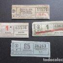 Coleccionismo Billetes de transporte: LOTE 4 BILLETE CAPICUA 47574 63536 36263 63636 TRANVIAS BARCELONA VER TRAYECTOS. Lote 161814158
