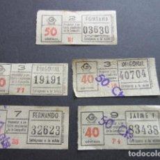 Coleccionismo Billetes de transporte: 5 BILLETE METRO BARCELONA PARADA FERNANDO Y OTRAS CAPICUA 40704 83438 32623 03630 19191. Lote 161815998