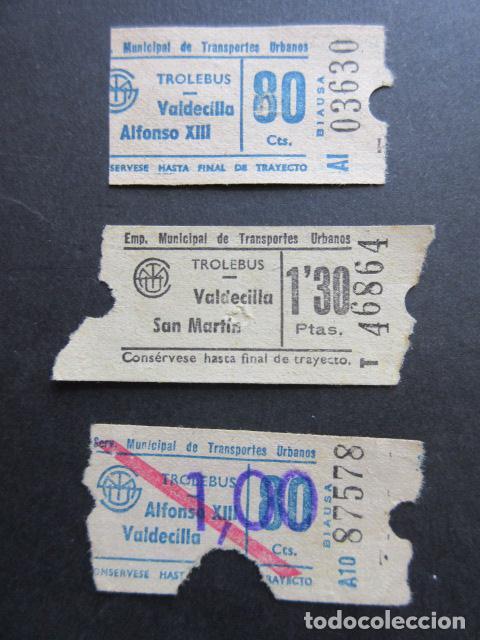 BILLETE EMPRESA TROLEBUSES SANTANDER VALDECILLA ALFONSO XII CAPICUA 03630 87578 46864 (Coleccionismo - Billetes de Transporte)