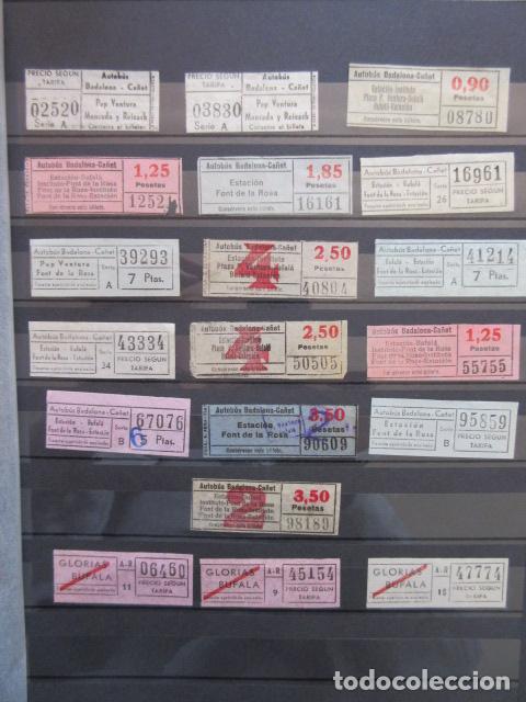 COLECCION 19 BILLETES CAPICUA NUMEROS DIFERENTES BADALONA AUTOBUSES CAÑET LEER INTERIOR (Coleccionismo - Billetes de Transporte)