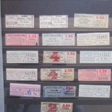 Coleccionismo Billetes de transporte: COLECCION 19 BILLETES CAPICUA NUMEROS DIFERENTES BADALONA AUTOBUSES CAÑET LEER INTERIOR. Lote 161822794