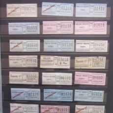 Coleccionismo Billetes de transporte: COLECCION 133 BILLETES CAPICUA NUMEROS DIFERENTES BADALONA AUTOBUSES TUSA LEER INTERIOR. Lote 161823074