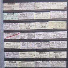 Coleccionismo Billetes de transporte: COLECCION 238 BILLETES CAPICUA NUMEROS DIFERENTES BADALONA AUTOBUSES TUSGSAL LEER INTERIOR. Lote 161823614