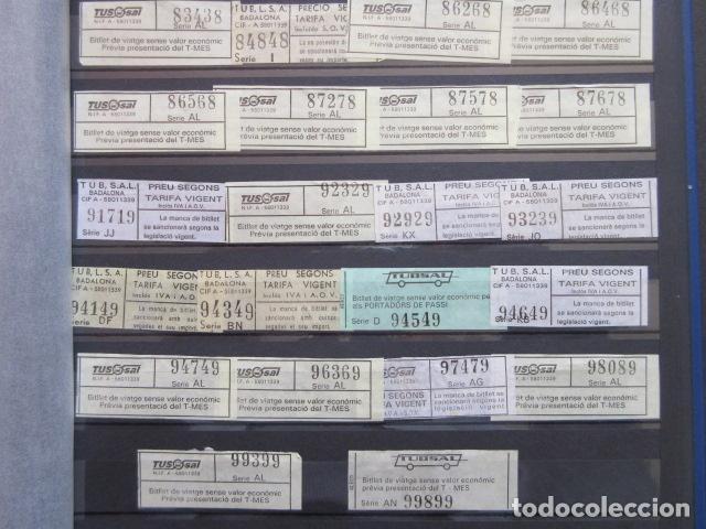 Coleccionismo Billetes de transporte: COLECCION 238 BILLETES CAPICUA NUMEROS DIFERENTES BADALONA AUTOBUSES TUSGSAL LEER INTERIOR - Foto 7 - 161823614