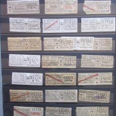 Coleccionismo Billetes de transporte: COLECCION 236 BILLETES CAPICUA NUMEROS DIFERENTES URBAS URBANIZACIONES Y TRANSPORTES LEER INTERIOR. Lote 161824090