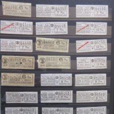Coleccionismo Billetes de transporte: COLECCION 184 BILLETES CAPICUA NUMEROS DIFERENTES LOGO TB TRANVIAS BARCELONA MAS 5 PTA LEER INTERIOR. Lote 161824706