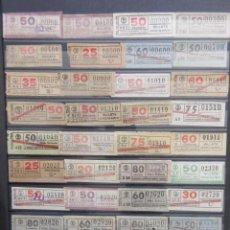 Coleccionismo Billetes de transporte: COLECCION 941 BILLETES CAPICUA NUMEROS DIFERENTES LOGO TB TRANVIAS BARCELONA CORTOS CENTIMOS. Lote 161826370