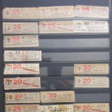 Coleccionismo Billetes de transporte: COLECCION 738 BILLETES CAPICUA NUMEROS DIFERENTES LOGO TB TRANVIAS BARCELONA LARGOS CENTIMOS. Lote 161827954