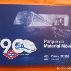 Coleccionismo Billetes de transporte: LIBRO 90 AÑOS METRO MADRID PARQUE MOVIL IMAGENES DATOS TECNICOS INCREIBLES FOTOS 216 PAGINAS 2009. Lote 162014066