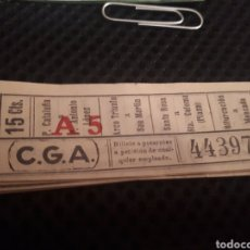Coleccionismo Billetes de transporte: 44397 BILLETE CGA 0.15 CTS DIFERENTES RECORRIDOS. Lote 162143662