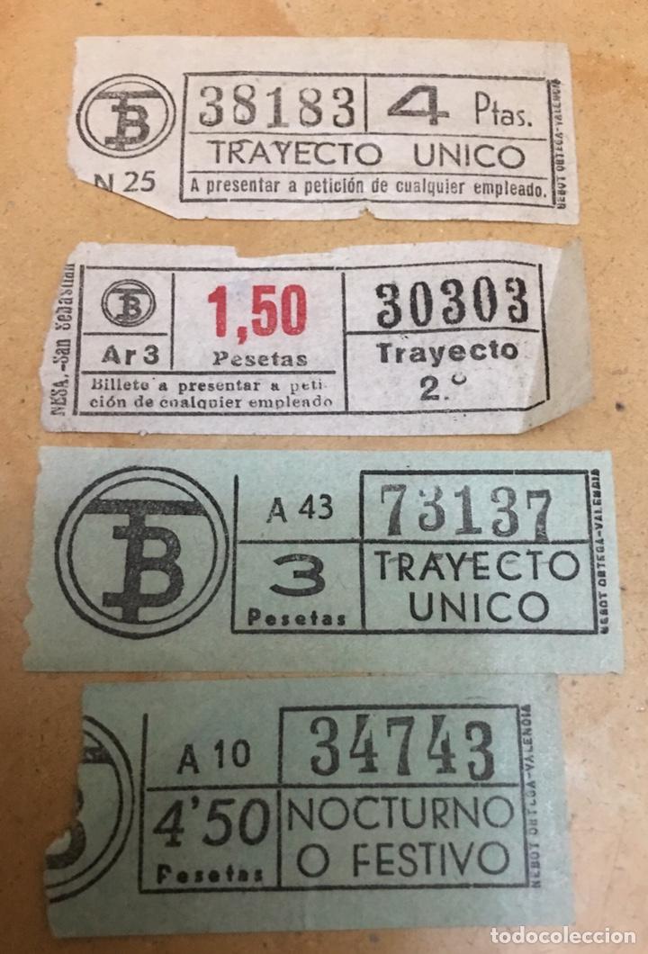 COLECCIÓN 4 BILLETES BUS BARCELONA CAPICÚA (Coleccionismo - Billetes de Transporte)