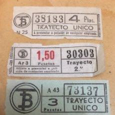 Coleccionismo Billetes de transporte: COLECCIÓN 4 BILLETES BUS BARCELONA CAPICÚA. Lote 162291554
