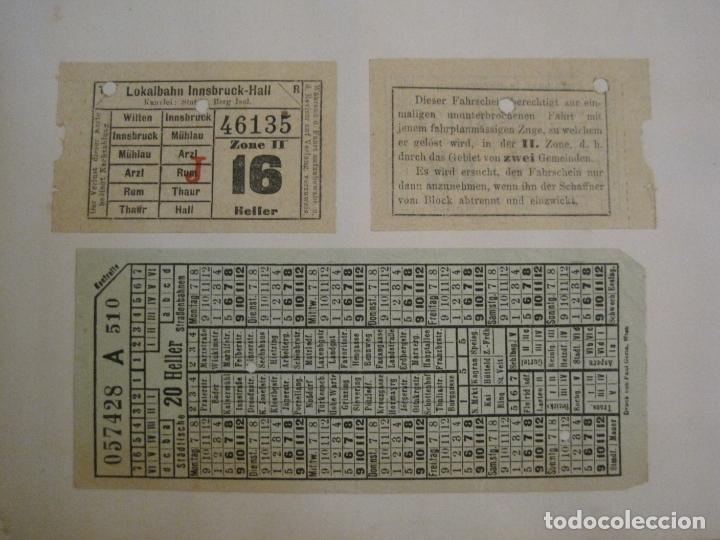 Coleccionismo Billetes de transporte: BILLETES TRANSPORTE-AUSTRIA-5 BILLETES ANTIGUOS TRANSPORTE-VER FOTOS(V-16.911) - Foto 2 - 163961434