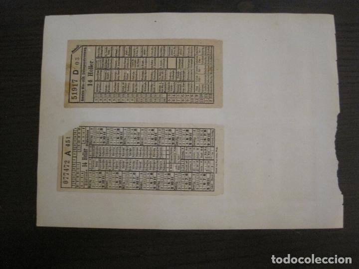 Coleccionismo Billetes de transporte: BILLETES TRANSPORTE-AUSTRIA-5 BILLETES ANTIGUOS TRANSPORTE-VER FOTOS(V-16.911) - Foto 3 - 163961434