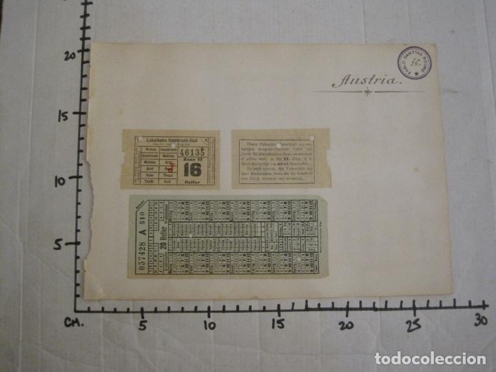 Coleccionismo Billetes de transporte: BILLETES TRANSPORTE-AUSTRIA-5 BILLETES ANTIGUOS TRANSPORTE-VER FOTOS(V-16.911) - Foto 5 - 163961434